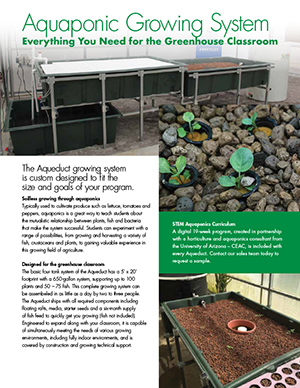 Custom Aquaponic Growing Systems Greenhouse Classroom Education