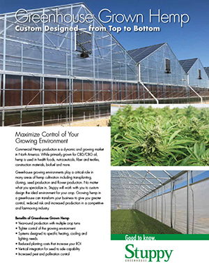 Custom Greenhouses Hemp Environmental Control