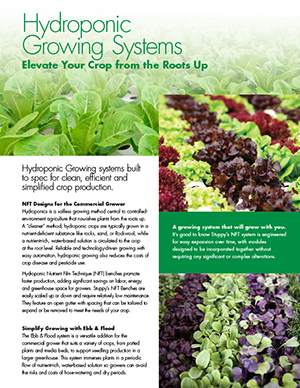 Hydroponic Growing Systems Commercial NFT Herbs Vegetables Fruits