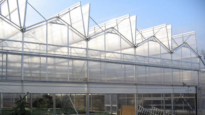 Venlo Style Open Roof Nursery Greenhouse