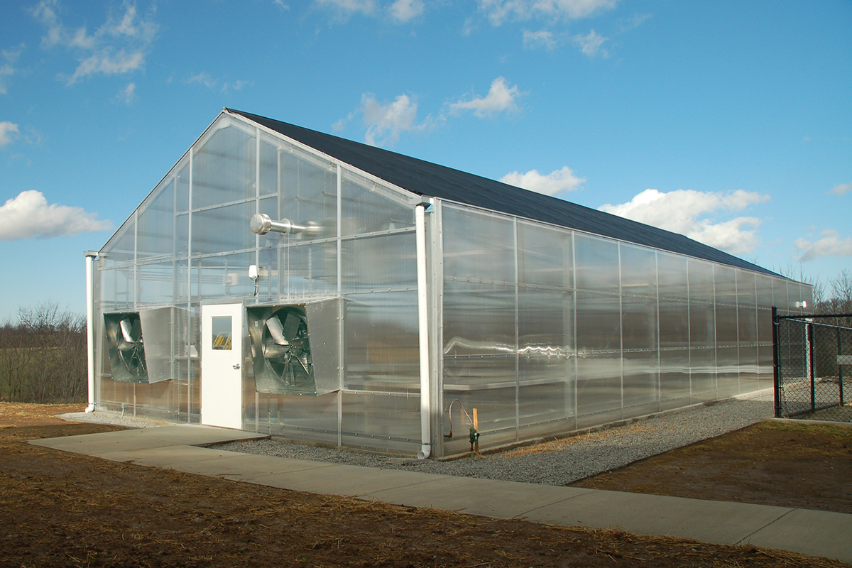 Exterior Shade Coverings A-Frame Greenhouse