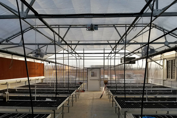 Greenhouse Shade Systems interior cooling control