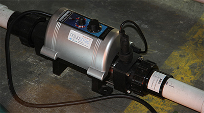 Aquaponic heater water temp