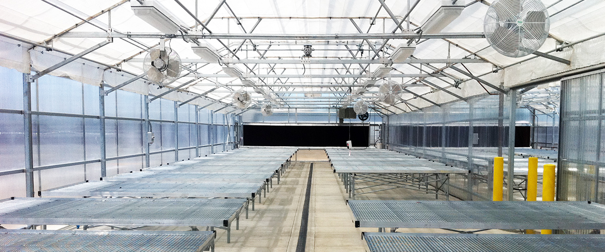 Greenhouse shade system indoor motorized temp control