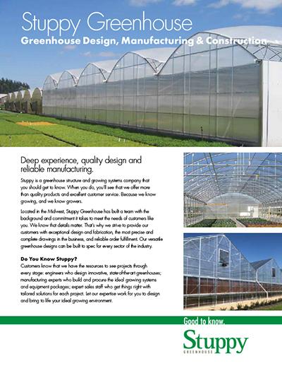 Commercial Custom Greenhouse Design Brochure Catalog